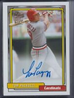 🔥💎 TOM PAGNOZZI 2020 Topps Archives ON-CARD AUTO St. Louis Cardinals #FFA-TP
