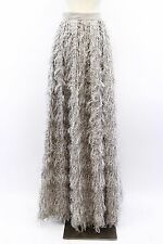NWT$1645 Brunello Cucinelli Textured Feather&Metallic Lurex Ball Skirt 42/6 A176