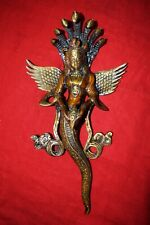 Brass Wall Hanging Mermaid With Snake Crown Awesome Room Welcome Gate Decor RD34