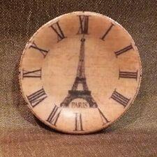 Dollhouse Miniature Eiffel Tower Clock Plate