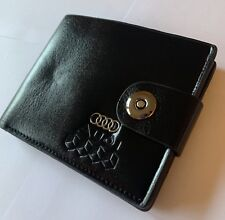 New Audi Men's Leather Wallet perfect gift S RS S Line UK 🇬🇧