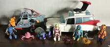 Vintage Lot 1980's Kenner GHOSTBUSTERS ECTO-1 Ambulance ECTO-2 Helicopter + More