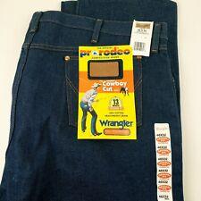 Wrangler Jeans 46x32 Blue Denim Cowboy Cut Original Fit 13MWZ Pro Rodeo 46x30
