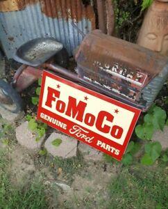 Vintage look Old Style Ford parts FoMoCo Sign hot rod garage art