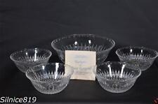 Princess House Highlights And Royal Highlights #805 5 Piece Crystal Bowl Set NIB