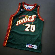 100% Authentic Gary Payton Champion Sonics Jersey Size 48 L XL Mens pro cut