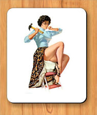 PIN UP SEXY HANDYWOMAN MOUSE PAD -