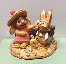 PenDelfin Rabbit Collectors Figurine - Sunny Bunnies Factor 8 # 402