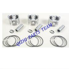 Fit Yanmar 3TNE68 3TNE68C 3D68E 3TNE68L piston kit With ring set