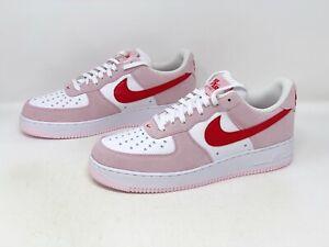 Nike Air Force 1 'Valentine's Day' White Pink Sneaker, Size 11.5 BNIB DD3384-600