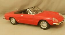 1970-82 MINICHAMPS PAULS MODEL ALFA ROMEO SPIDER RED CONVERTIBLE SCALE 1:18