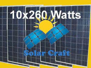 Smart Système solaire economie 10x260 Watt  Panneau Module  énergie renouvelable