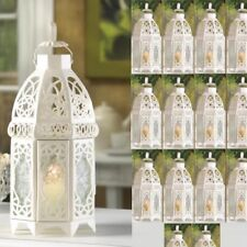 "Lot 15 Enchanting 12"" White Lantern Candleholder Wedding centerpieces"