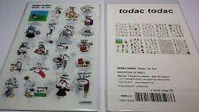 10 sheet Korea todac todac sticker ver.4 adhesive  PVC journal Diary scrapbook