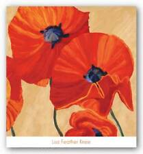 Oriental Poppy Right Lisa Feather Knee Art Print 24x24