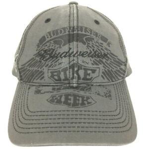 Budweiser Cap Bike Week Hat Beer Eagle Logo Distressed Baseball Trucker Retro