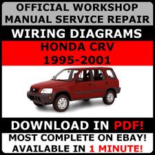 official workshop service repair manual honda cr-v 1995-2001 +wiring  diagrams