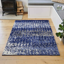 Navy Blue Shaggy Rugs Small Large Scandi Shag Rug 3cm Deep Cosy Living Room Rug