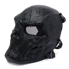 Metal Mesh Eye BB Protect Full Face Mask Airsoft Paintball Hockey Cosplay Black