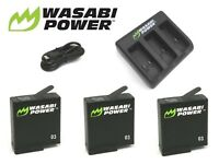 Wasabi Power Battery Set & Dual/Triple USB Charger Kit GoPro HERO 7,6,5,4,3,3+