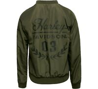 Harley-Davidson Women's Reversible Bomber Jacket Lightweight Dark Green Size XS