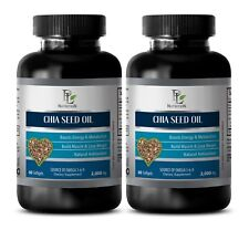 fat removal - CHIA SEED OIL 2000MG - chia seed skincare - 2 Bottles