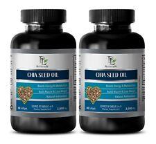fat loss pills - CHIA SEED OIL 2000MG - chia seed gluten free - 2 Bottles