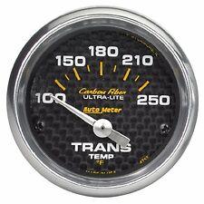 AutoMeter Carbon Fiber Ultra-Lite Analog Transmission Temp Gauge * 4757 *