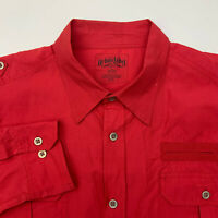 Urban Label Button Up Shirt Mens 3XL Red Long Sleeve Casual