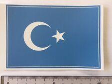East Turkestan (Uighur, Uygurs, Uyghurstan) flag sticker peel off vinyl