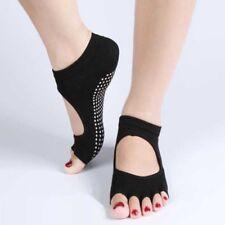 Women Short Backless Pilates Socks Non Slip Toe Sock Full Grip Five Finger Sox