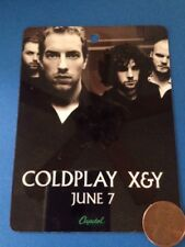 Coldplay Backstage Pass Laminate X&Y June 7