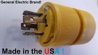 30 Amp Generator Plug 250 Volt 4 Blade Twist Lock Shore Power L14-30 GE USA MADE