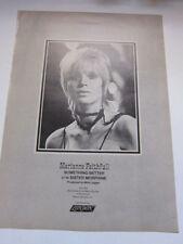 MARIANNE FAITHFULL Sister Morphine 1969 Billboard magazine advertisement 11x15