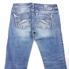 Women's Silver Jeans Destroyed Tuesday Boot Cut Size 28x29 PCR5