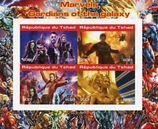 More details for chad marvel superheroes stamps 2021 mnh guardians of galaxy movies 4v impf m/s