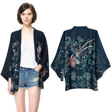 Japanese Kimono Women Coat Bat Sleeve Cardigan Fashion Printing Phoenix Loose