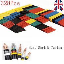 328Pcs Heat Shrink Wire Cable Tubing Tube Sleeve Wrap Shrinkage Ratio 2:1 Set UK