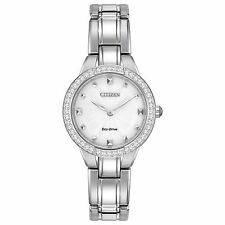Citizen Eco-Drive Womens EX1360-50A Silhouette Swarovski Crystal Accents Watch