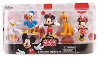 Disney Mickey Mouse Collectible Figure Set Mickey Minnie Donald Daisy Pluto