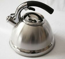 2.8L High Quality Stainless Steel Whistle Kettle for home and camping thick base
