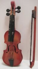 Old Czechoslovakia Miniature Childs Tin /Wood Violin Toy Doll Musical Instrument