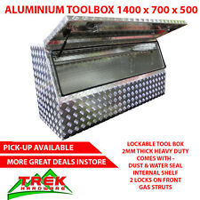 TOOLBOX HEAVY DUTY ALUMINIUM TOOL BOX STORAGE CABINET FOR TRAILER UTE  1400mm