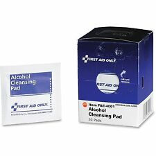 First Aid Only, Inc Alcohol Cleansing Pads 20/BX White FAE4001