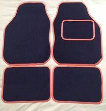 CAR FLOOR MATS- BLACK WITH ORANGE TRIM FOR MINI COOPER CLUBMAN ONE FIRST