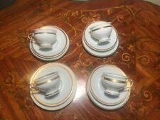 4 Cups 4 Saucer 4 Plates Set Rare Thomas Bavaria Porcelain Coffee Mocca Espresso