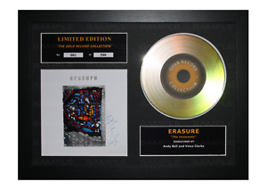 Erasure Signed Gold Disc Album Ltd Edition Framed Picture Memorabilia