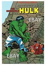 POWER PIN-UP Print - INCREDIBLE HULK B Vintage Artwork Marvel UK Distribution