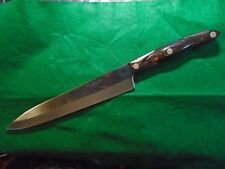 """Cutco No. 1725 9"""" French Chef Knife with classic brown swirl  handle,"""