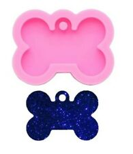 DOG BONE PENDANT SILICONE MOULD-COLLAR/KEYCHAIN/RESIN MOLD-CHARM/ICING/CHOCOLATE